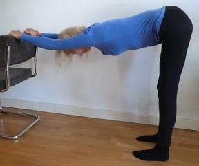 Ontspanning en stretchen bovenrug